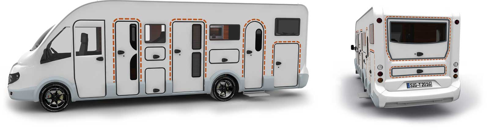 Satisfied tegos customers with XGO caravans and RVs